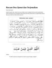 bacaan doa qunut dan terjemahan.doc