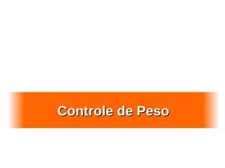 Controle de Peso.ppt