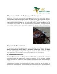 Make Your Home Rodent Free With Effective Pest Control And Management.pdf