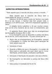 MATÉRIA - Fundamentos da fé.doc