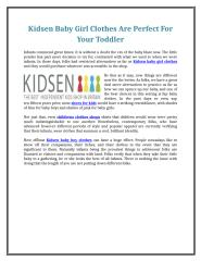 Kidsen Baby Girl Clothes Are Perfect For Your Toddler.doc