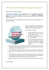 What Is Role Of Database Management System.doc