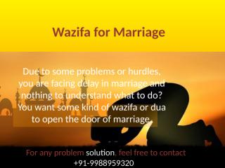 Wazifa for Marriage by Black Magic Specialist in Bangalore1.pptx